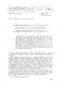 Ruđer Bošković u geoznanosti / V. Kochansky-Devide