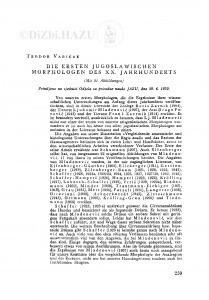 <Die> ersten jugoslawischen Morphologen des XX. Jahrhunderts / T. Varićak