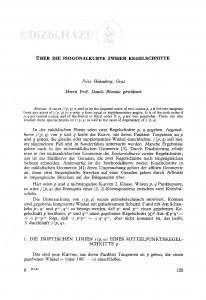 Ueber die Isogonalkurve zweier Kegelschnitte / F. Hohenberg