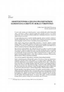 Arhitektonska cjelina franjevačkog samostana i crkve sv. Roka u Virovitici / Ivan Jengić