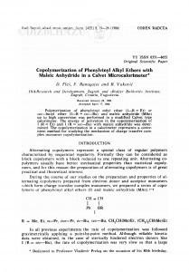 Copolymerization of phenylvinyl alkyl ethers with maleic anhydride in a Calvet microcalorimeter / F. Ranogajec, R. Vuković, D. Fleš