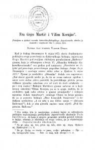 Fra Grgo Martić i Vilim Korajac / V. Dukat