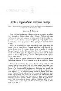 Apollo u zagrebačkom narodnom muzeju / I. Kršnjavi