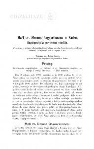 Moći sv. Šimuna Bogoprimaoca u Zadru : hagiografijsko-povjestna studija / L. Jelić