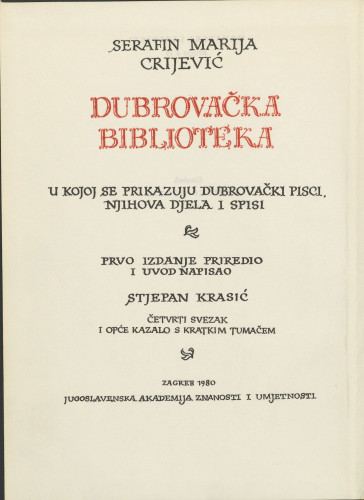 Tomus 4. et index generalis brevi interpretatione instructus : Sv. 4. i opće kazalo s kratkim tumačem