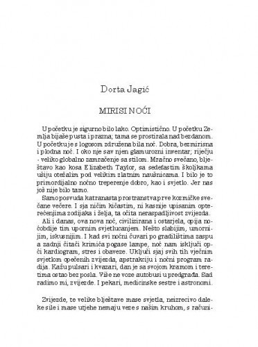 Mirisi noćiDorta Jagić