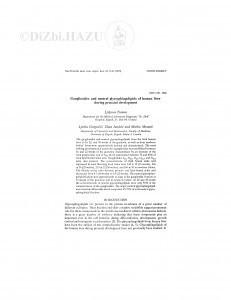 Gangliosides and neutral glycosphingolipids of human liver during prenatal development / Lj. Toman, Lj. Gospočić, Z. Jandrić, M. Mesarić