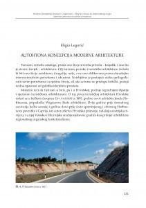 Autohtona koncepcija moderne arhitekture / Eligio Legović