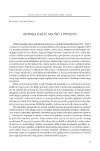 Andrija Kačić Miošić i povijest / Francesco Saverio Perillo