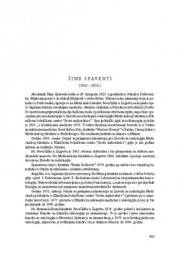 Šime Spaventi (1925.-2012.) : [nekrolog] / Zvonko Kusić