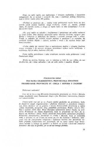 Pozdravna riječ fra Rajka Gelemanovića, provincijala Hrvatske franjevačke provincije sv. Čirila i Metoda u Zagrebu