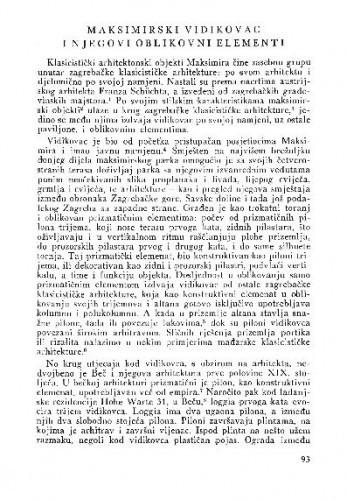 Maksimirski vidikovac i njegovi oblikovni elementi / Draginja Jurman-Karaman