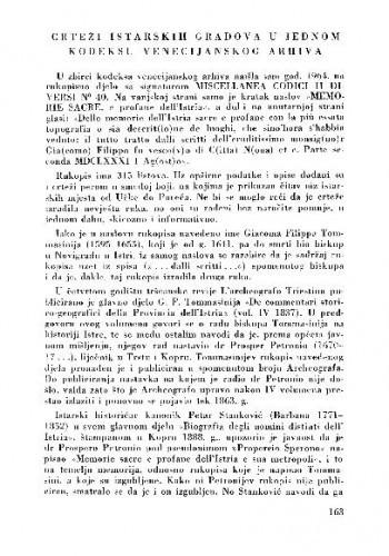 Crteži istarskih gradova u jednom kodeksu venecijanskog arhiva / Vera Zmajić