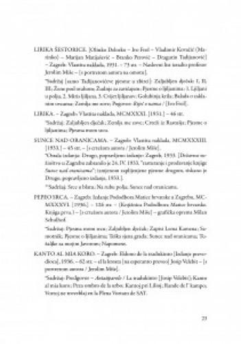 Bibliografija izdanja djela akademika Dragutina Tadijanovića / priredila Ana Batinić