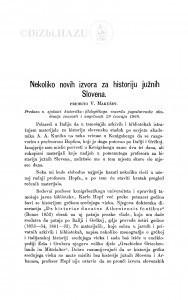 Nekoliko novih izvora za historiju južnih Slovena / V. Makušev
