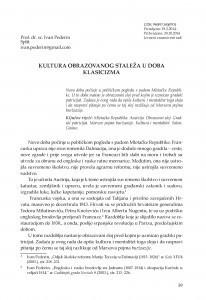 Kultura obrazovanog staleža u doba klasicizma / Ivan Pederin