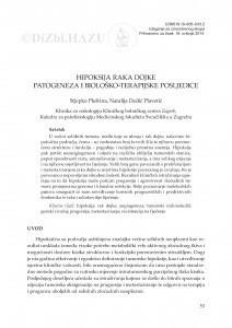Hipoksija raka dojke - patogeneza i biološko-terapijske posljedice / Stjepko Pleština, Natalija Dedić Plavetić