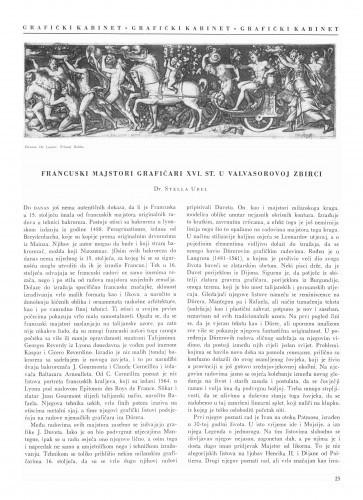 Francuski majstori grafičari XVI. st. u Valvasorovoj zbirci / Stella Ubel