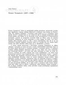 In memoriam trojici slikara: Ernestu Tomaševiću, Ivi Režeku, Marti Ehrlich Tompa / Josip Depolo