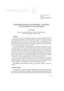 Temporomandibular disorders - the role of neuromuscular dentistry / Iva Alajbeg