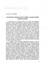 Sovjetski federalizam prema građanskim federacijama / I. Krbek