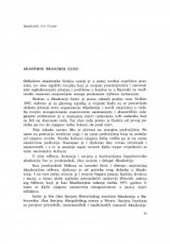 Akademik Branimir Gušić / I. Čupar, M. Marković