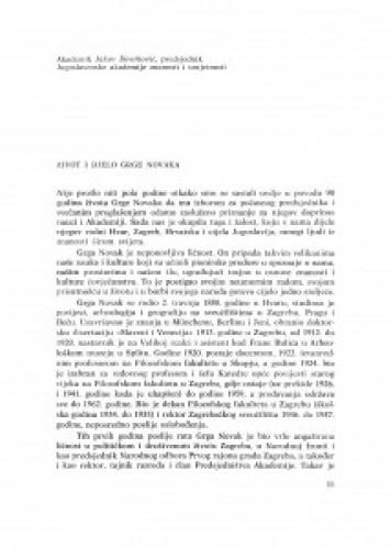 Život i djelo Grge Novaka / J. Sirotković