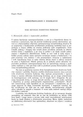 Samoupravljanje u Jugoslaviji / E. Pusić