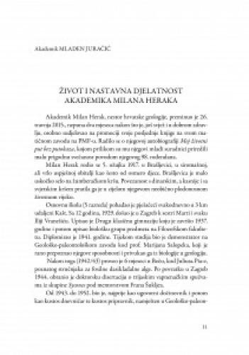 Život i nastavna djelatnost akademika Milana Heraka / Mladen Juračić