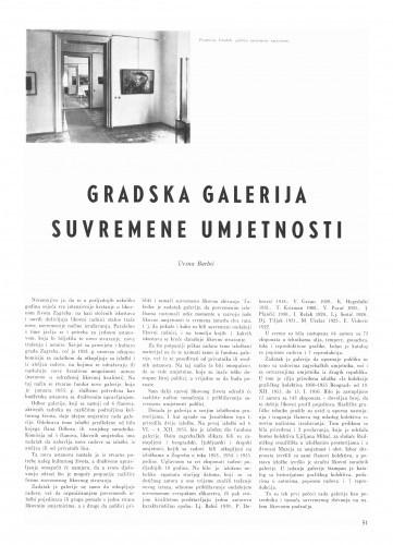 Gradska galerija suvremene umjetnosti / Vesna Barbić