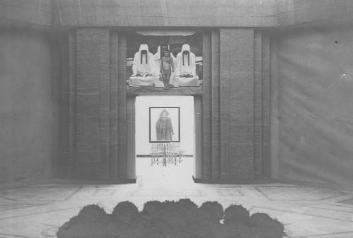 Babić, Ljubo: Samostalna izložba Ljube Babića, Umjetnički paviljon, Zagreb, 1913 - detalj postava ]