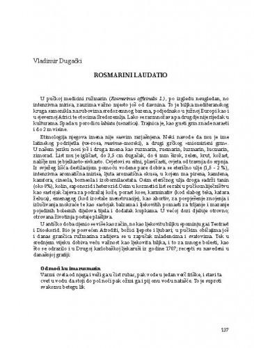 Rosmarini Laudatio
