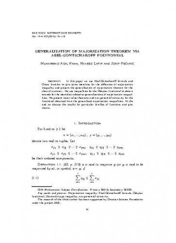 Generalization of majorization theorem via Abel-Gontscharoff polynomial