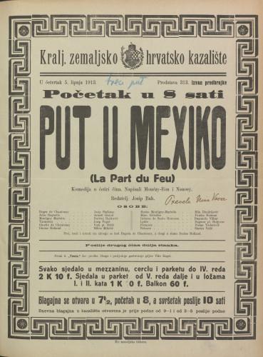 Put u Mexiko Komedija u četiri čina  =  La Part du Feu