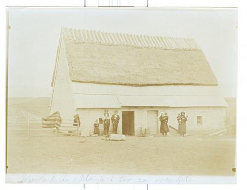 Seljačka kuća i tor za ovce ljeti [Nuić, Anđeo]