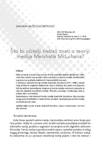 Što bi učitelji trebali znati o teoriji medija Marshalla McLuhana?