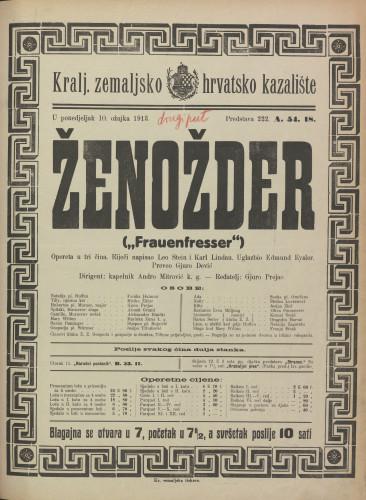 Ženožder Opereta u tri čina  =  Frauenfresser
