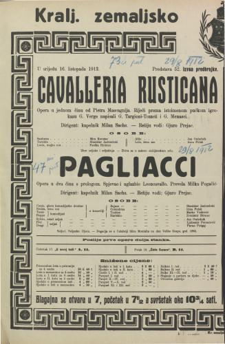 Cavalleria rusticana Opera u jednom činu / Giovanni Verga
