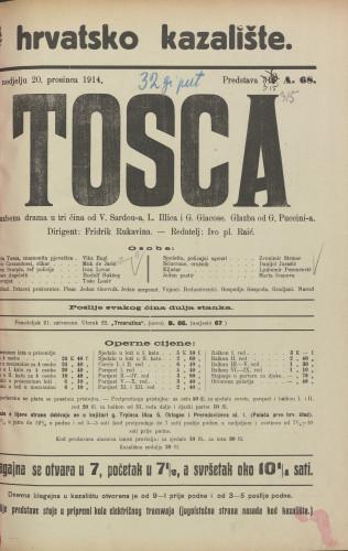 Tosca : Glazbena drama u tri čina