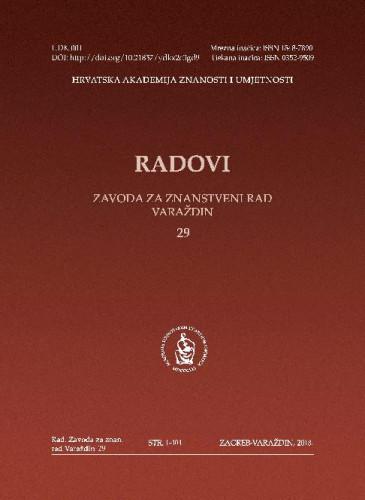 Knj. 29 (2018) / glavni i odgovorni urednik Stjepan Damjanović ; urednik Vladimir Huzjan