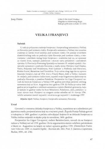 Velika i franjevci / Josip Poleto