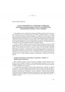 Klio i eksperiment u epidemiji : suzbijanje epidemije hemoragijske vrućice s bubrežnim sindromom pomoću pasa terijera / Marica Miletić-Medved