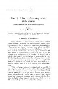 Kako je došlo do slavonskog urbara 1756. godine : na osnovi arhivalne građe iz arhiva županije virovitičke / J. Bösendorfer