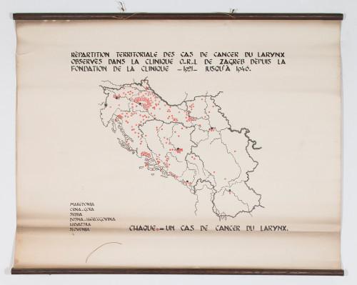 Teritorijalna učestalost karcinoma grla (Ca laryngis) prema podatcima ORL klinike Šalata u Zagrebu za razdoblje od 1921. do 1946. godine
