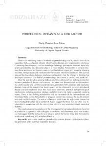 Periodontal diseases as a risk factor / Darije Plančak, Ivan Puhar