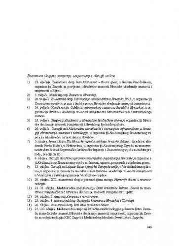 Kalendar događanja u 2015. u organizaciji, suorganizaciji ili pod pokroviteljstvom Hrvatske akademije znanosti i umjetnosti