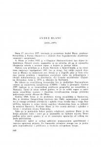 André Blanc (1922-1977) : [nekrolozi] / J. Roglić