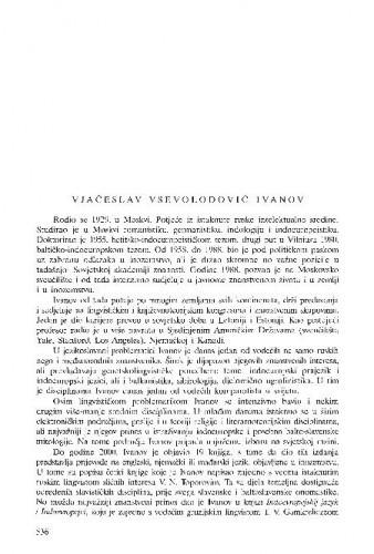 Vjačeslav Vsevolodovič Ivanov