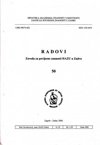 Sv. 50(2008) : Radovi Zavoda za povijesne znanosti HAZU u Zadru