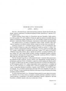 Hermann Seeger (1933.-2015.) : [nekrolog] / Stjepan Jecić